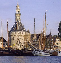 The old Harbour in Hoorn, a good restaurant is located in the main tower 'De Hoofdtoren'
